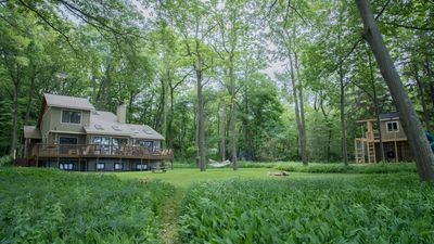 Photo for Lakefront Home w/ No Stairs to Private Beach, Large Yard, Custom Playset!