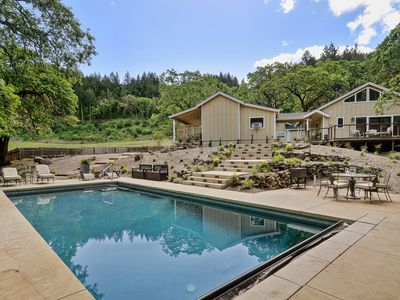 Photo for Lovely private getaway with pool and vineyard views.