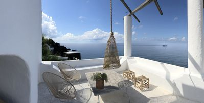 Photo for Seafront home with 2 really special terraces