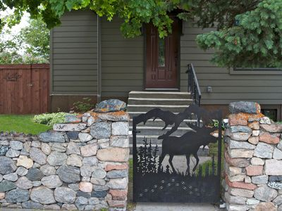 Front entrance on Haggin Street - Look for the Moose Traks gate!