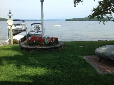 Photo for Lakefront home with sandy beach located on Lake Winnipesaukee in Alton, NH
