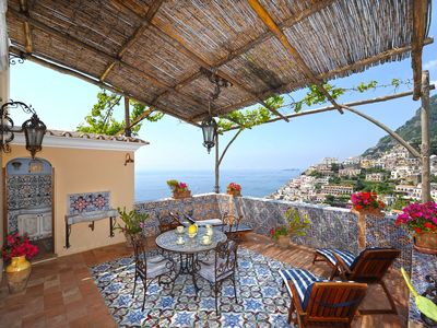 Photo for Panoramic Casa Elisabetta, in Positano, with 2 bedrooms, it can accommodate up to 5 guests