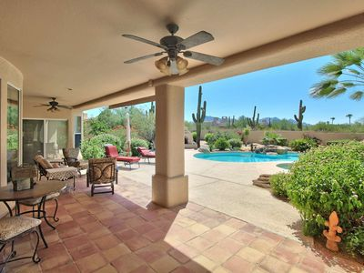 Photo for Heated Pool & Spa (NO Extra Fee) Office space and BBQ Close to Golf & Hiking+FREE GOLF & MORE!