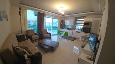 Photo for Sea view, luxury, on the beach, Moda Marine Residence, Kestel, Alanya. 18th