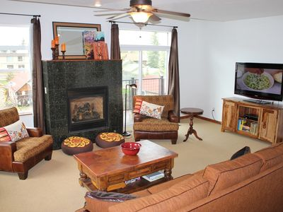 Photo for BD3B Inviting Condo 1 Block From Frisco Main St. w/Wifi, Fireplace & Garage