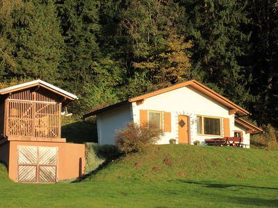 Photo for Original hunting lodge at 1000 meters on the edge of the wood with pool
