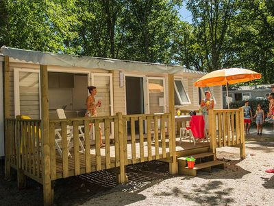 Photo for Camping Le Neptune **** - Cozy Air-conditioned 3-room mobile home 4 people