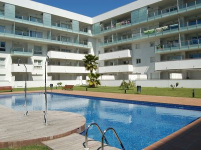 Photo for Nice apartment in Santa Margarita (Roses) with swimming pool, parking, air conditioning.