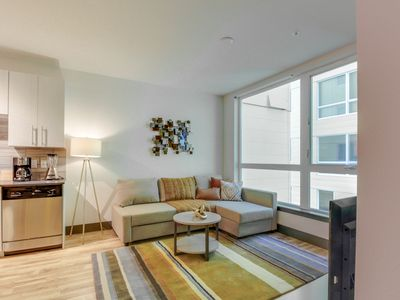 Photo for Modern, dog-friendly getaway w/ shared sky lounge & gym, near waterfront!
