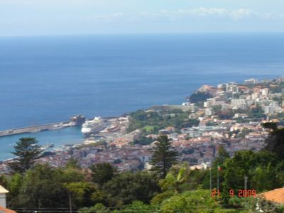 View of Botanic Gardens, Funchal City & Harbour