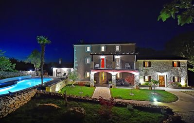 Photo for 6 bedroom luxurious mediterranean stone villa with pool and spa