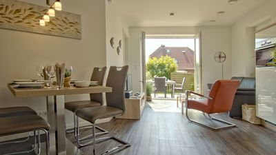 Photo for Inselparadies - New apartment with terrace, beach chair and garden