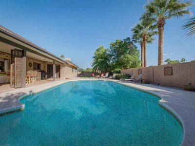 Photo for NEW LISTING! Stylish home with a private heated diving pool, hot tub, and more!