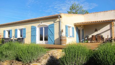 Photo for Stylish holiday house for 6 w. shared pool & magnificent views near Carcassonne