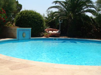 Photo for Provencal villa of 170m² 10 people and very beautiful Garden with round pool + Spa