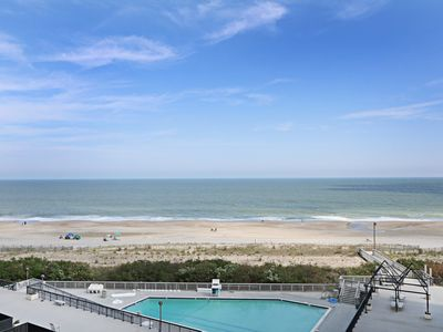 Photo for F601: 3BR Sea Colony oceanfront condo | Private beach, pools, tennis ...