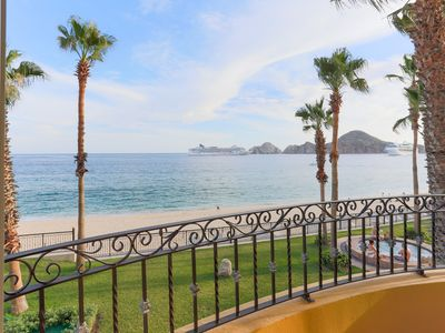 Photo for Beachfront  2nd Floor - Medano Beach Villa with Lands End & Los Cabos Bay Views!