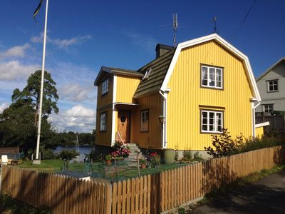 Photo for idyllic lakeside villa in Vaxholm city center overlooking the sea