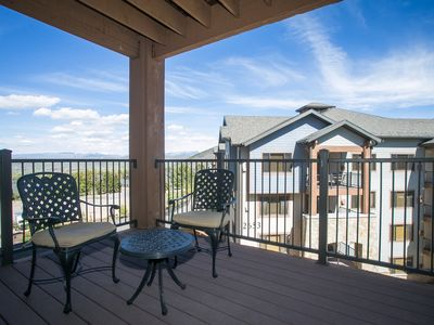 Photo for Huge condo with oversized deck boasting stunning views
