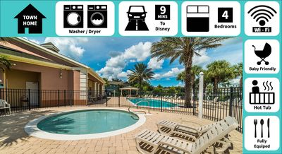 Photo for ✦Private hot tub & spacious patio✦ Perfect home for those going to Disney World!