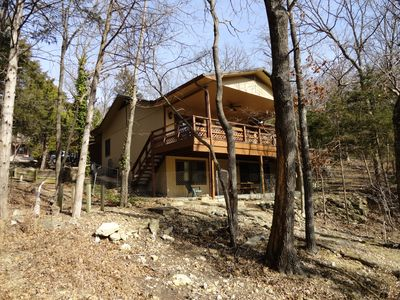 Photo for LAKE ESCAPE - Lakefront 4 Bedroom, Easy Walk to Water, & Big TV's, Pet Friendly