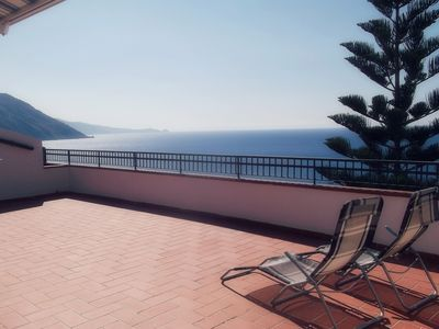 Photo for Stunning apartment with wonderful sea view terrace