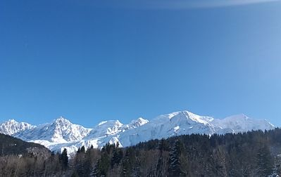 Photo for Renovated farm facing the Mont Blanc chain