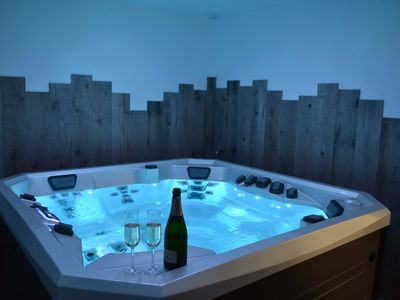 Photo for LES BULLES D'EMERAUDE cottage with private indoor jacuzzi