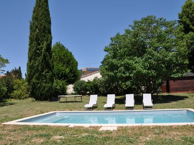 Photo for Mas in Drôme Provençale, 6 bd, 4 bedrooms, private pool