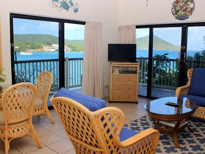 Waterfront, wrap around balcony. Rate includes cleaning fee. E2