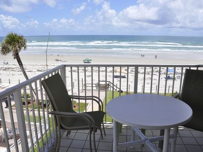 Photo for Direct Ocean Front/Corner Unit!  NoDriveBeach of New Smyrna !!