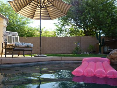 Pool area in the back