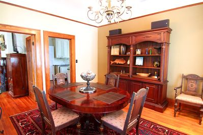 Gorgeous dining area large enough for 6.