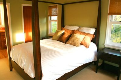 Romantic Master suite with walk-in closet and bathroom with all amenities.