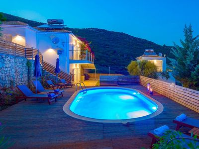 Photo for Lovely Villa, Private Pool, Elevated Position with Stunning Views over Lemni Keri to the Ionian Sea!