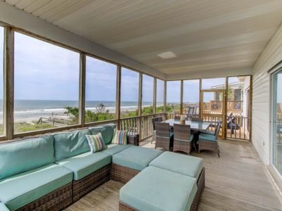 Photo for Oceanfront, Pet Friendly! Screen Porch with Dining Area