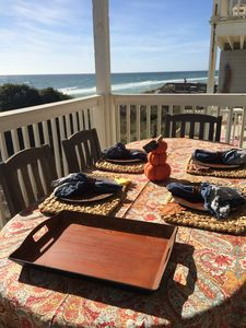 Thanksgiving on the main balcony.