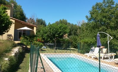 Photo for Villa with heated pool paradise for children and nature lovers ...