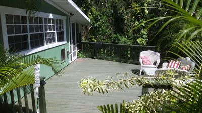 Photo for Cozy cottage located mid island in a lush tropical environment