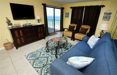 Photo for Regency 1003, Beach Chairs, 3 Bedrooms, Beachfront, Pool, Wi-Fi, Sleeps 8