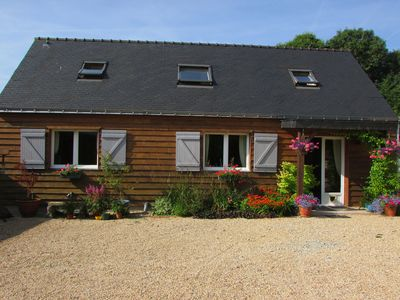 Photo for Cottage with Pool In Plouray, Between Pontivy And Rostrenen, Morbihan, Brittany