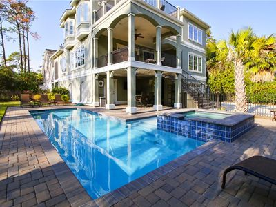 Photo for Luxurious Home w/ Pool - Bar Area w/TV, Elevator, Just Steps to Beach!