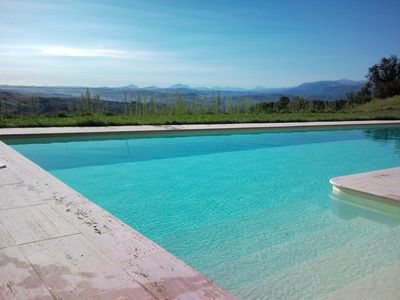 Photo for Beautiful restored house, exceptional views, quiet, large private pool