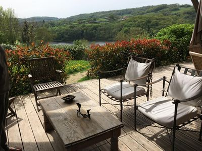 Photo for Chalet house panoramic view of the Lake and the Morvan mountains