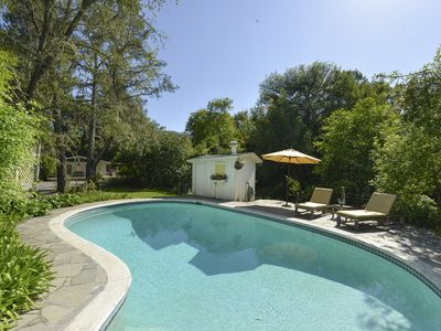 Photo for Serene Cottage with Pool & Hot tub Only Minutes from Wineries & Restaurants