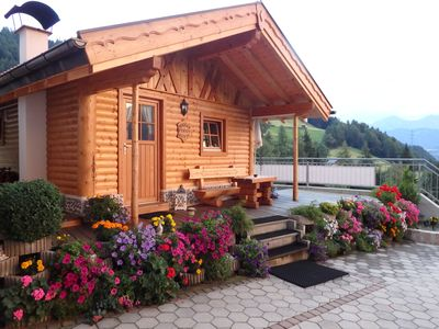 Photo for Beautiful wooden cottage with a cozy fireplace, and Zirbenstube Zirbenbett