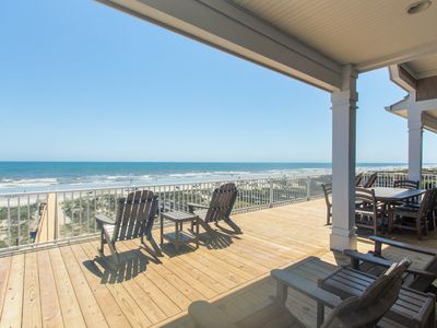 Photo for Beautiful new Custom Oceanfront home with XL covered decks, pool and elevator.