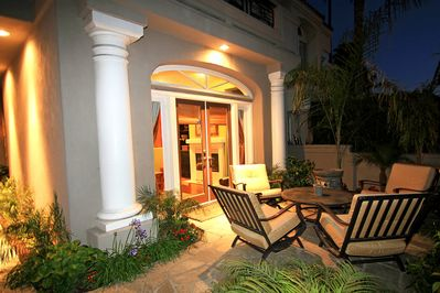 Front Patio in evening