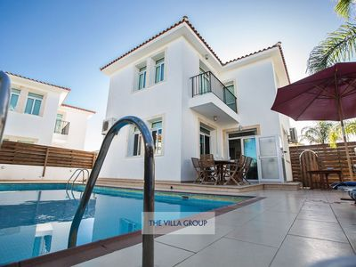 Photo for Protaras Villa, Sleeps 6 with Pool, Air Con and WiFi