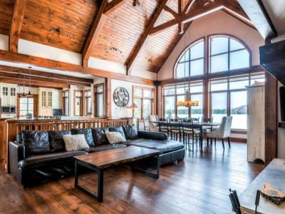 Photo for Stunning Waterfront Chalet with Incredible Views/Private Hot Tub (418262)